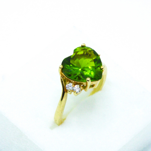 Inel cu piatra in forma de inima placat cu aur Exception3