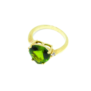 Inel cu piatra in forma de inima placat cu aur Exception [1]