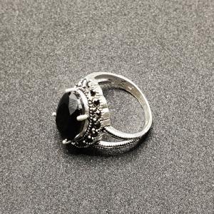 Inel din argint cu piatra Noir4