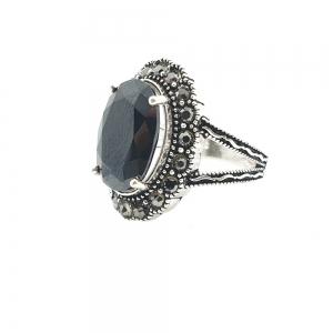 Inel din argint cu piatra Noir0