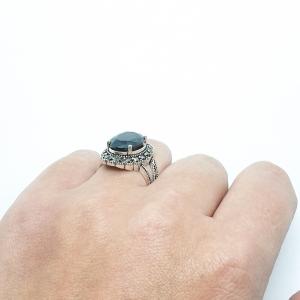 Inel din argint cu piatra Noir6