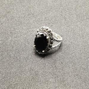 Inel din argint cu piatra Noir2