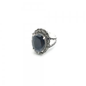 Inel din argint cu piatra Noir1
