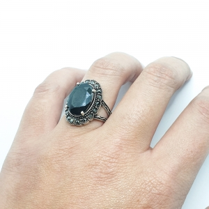 Inel din argint cu piatra Noir5