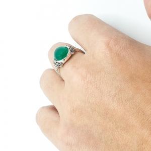 Inel din argint Smarald6