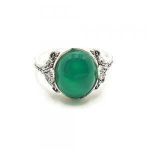 Inel din argint Smarald4