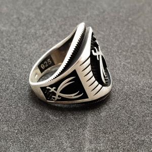 Inel pentru barbati din argint Ticket4