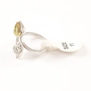 Inel placat cu aur alb Aracely1