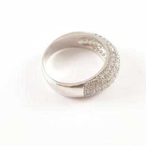 Inel placat cu aur alb Esmeralda1