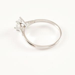 Inel placat cu aur alb Liana2