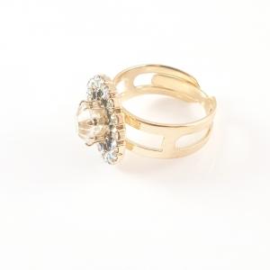 Inel placat cu aur Ducessa1