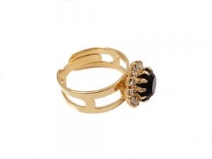 Inel placat cu aur de 18 K Rock & Shine1