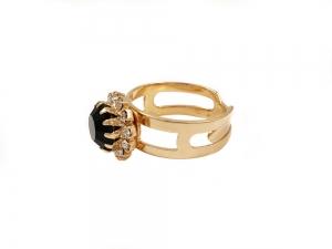 Inel placat cu aur de 18 K Rock & Shine0