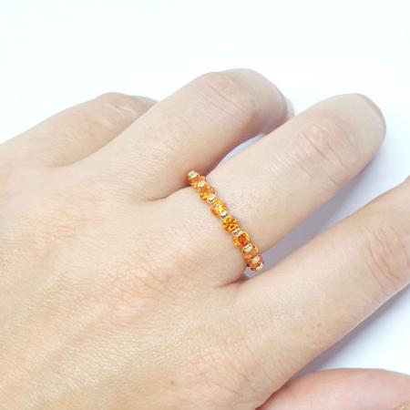Inel placat cu aur Finger [3]