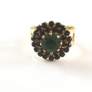 Inel placat cu aur Royal Green1