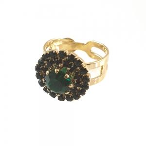 Inel placat cu aur Royal Green0