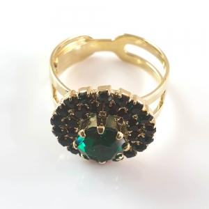 Inel placat cu aur Royal Green2