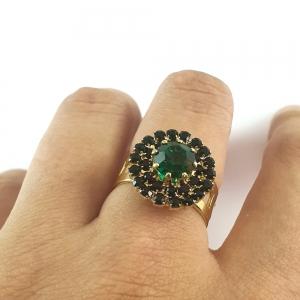 Inel placat cu aur Royal Green4