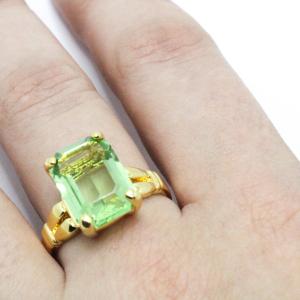 Inel cu piatra mare placat cu aur Different [3]