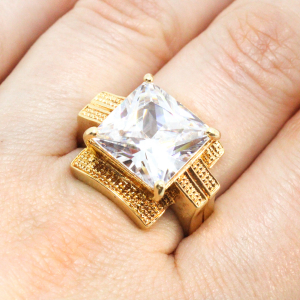 Inel tip ghiul pentru femei placat cu aur Kare [4]