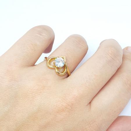Inel placat cu aur Strain [4]
