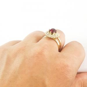 Inel placat cu aur Red Queen8
