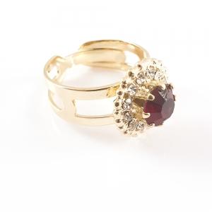 Inel placat cu aur Red Queen4