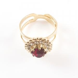 Inel placat cu aur Red Queen6