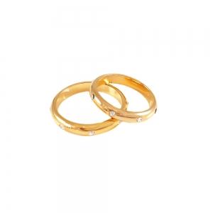 Inel  placat cu aur tip verigheta cu strasuri1
