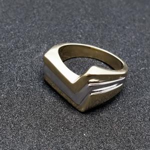 Inel placat cu aur Seeker6