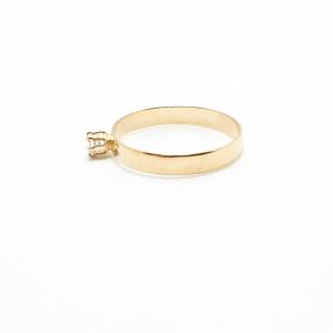Inel placat cu aur SaraTremo [0]