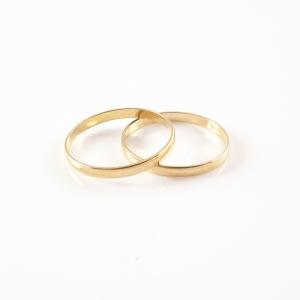 Inel tip verigheta placat cu aur Wedding3