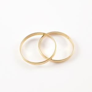 Inel tip verigheta placat cu aur Wedding4