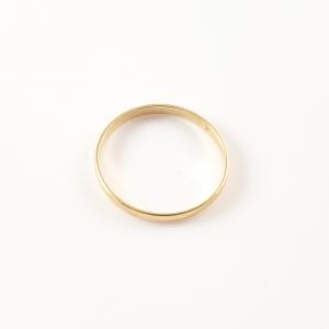 Inel tip verigheta placat cu aur Wedding1