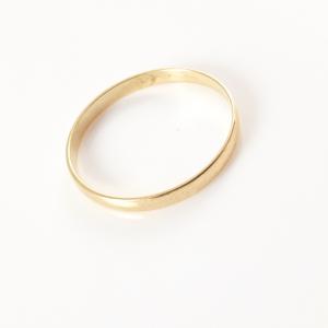 Inel tip verigheta placat cu aur Wedding2