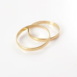 Inel tip verigheta placat cu aur Wedding5