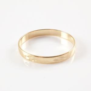 Inel tip verigheta placat cu aur SaraTremo [3]