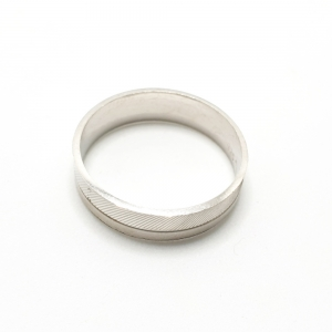 Inel tip verigheta din argint Silver3
