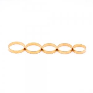 Inel tip verigheta placat cu aur Solid2