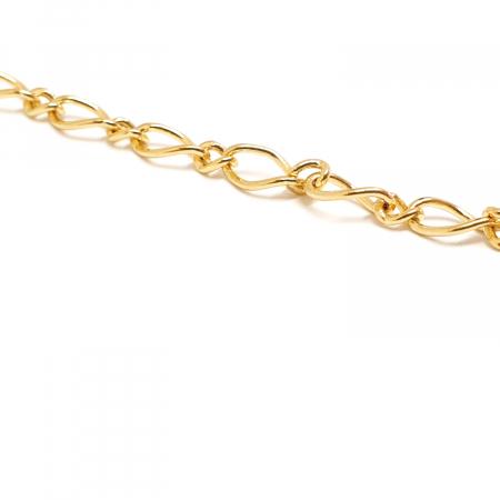 Lant barbatesc placat cu aur 60 cm Wilder3