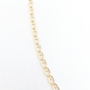 Lant barbatesc placat cu aur 50 cm Netto2