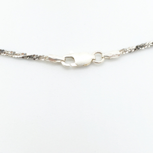 Lantisor 45 cm din argint impletit cu rodiu Ice Ice Baby3