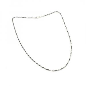 Lantisor 45 cm din argint impletit cu rodiu Ice Ice Baby4