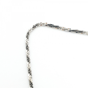 Lantisor 45 cm din argint impletit cu rodiu Ice Ice Baby2