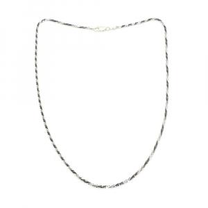 Lantisor 45 cm din argint impletit cu rodiu Ice Ice Baby0