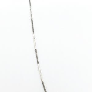 Lantisor 45 cm din argint impletit cu rodiu N-Joy1