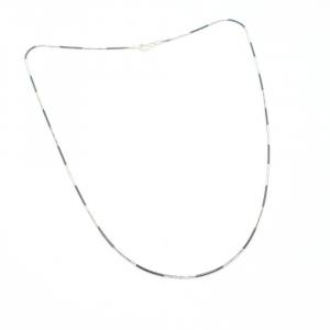 Lantisor 45 cm din argint impletit cu rodiu N-Joy4