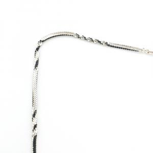 Lantisor argint impletit cu rodiu SaraTremo [2]