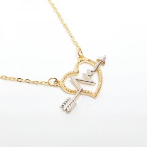 Colier placat cu aur 52 cm Cupidon2