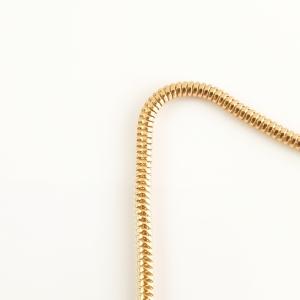 Lantisor 44 cm placat cu aur Alycia3
